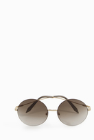 Victoria Beckham Supra Feather Round Sunglasses