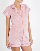 Bodas Verbier striped cotton pyjama shirt