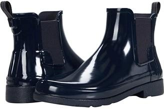 Hunter Refined Chelsea Gloss (Navy) Women's Rain Boots