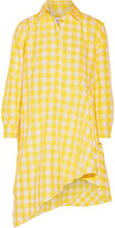Marques Almeida Marques' Almeida - Asymmetric Gingham Twill Shirt Dress - Yellow