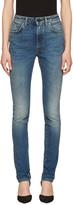 Saint Laurent Indigo High Waisted Skinny Jeans