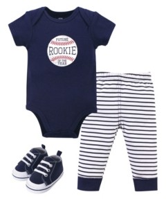 Hudson Baby Boys Bodysuit, Pant and Shoe Set