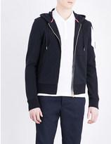 Moncler Gamme Bleu Striped-sleeve cotton hoody