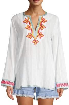 Trina Turk Modern Miami Embroidered Cotton Tunic