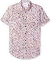 Calvin Klein Jeans Men's Short Sleeve Keleidascope Print Button Down Shirt