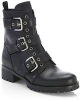 Prada Triple-Strap Grommet Leather Boots