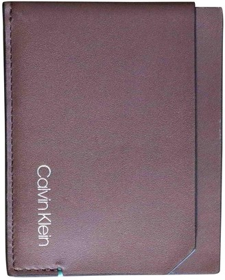Calvin Klein Brown Leather Small bags, wallets & cases