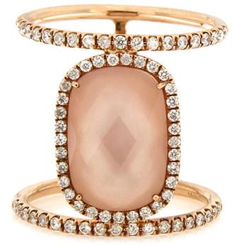 Meira T 14K Rose Gold 5.00 Ct. Tw. Diamond & Rose Quartz Ring