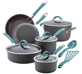 Rachael Ray Cucina Hard-Anodized Non-Stick Cookware Set (12 PC)
