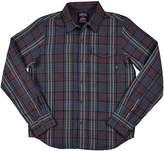 Element Big Boys (8-20) Lumber Long Sleeve Button Up Shirt-Medium
