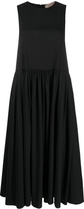 Blanca Vita Sleeveless Midi Ruched Dress