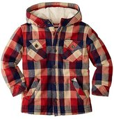 Boys Sherpa Lined Jacket In Quilted Flannel