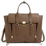 3.1 Phillip Lim 'Large Pashli' Leather Satchel - Brown