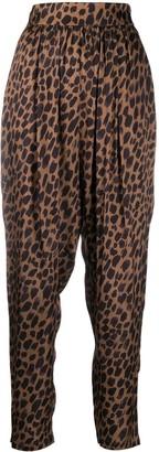 8pm Leopard-Print Trousers