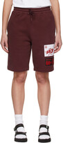 Thumbnail for your product : SSENSE WORKS SSENSE Exclusive 88rising Burgundy Patch Shorts