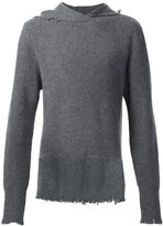 RtA cashmere hooded sweater