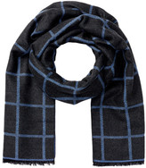 Amicale Double Face Check Scarf