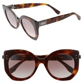 Fendi Women's 52Mm Butterfly Sunglasses - Black