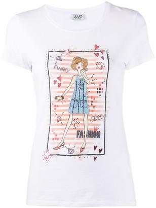 Liu Jo short sleeve fashion girl print T-shirt