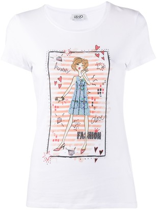 Liu Jo short sleeve fashion girl print T-shirt