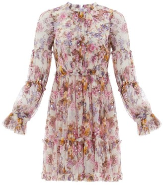 Needle & Thread Harmony Floral Chiffon Dress