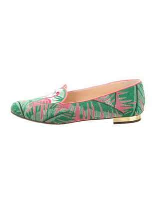 Charlotte Olympia Printed Loafers Green