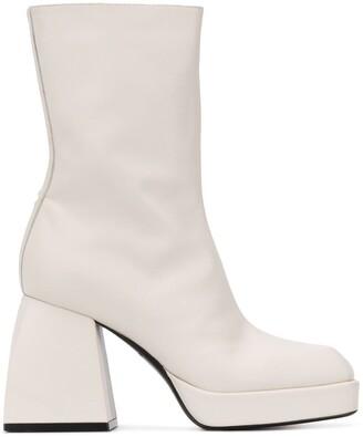 Nodaleto Square-Toe Heeled Boots