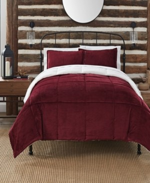 Serta Cozy Plush 3 Piece Comforter Set, Queen