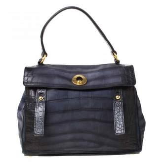 Saint Laurent Muse Two Navy Leather Handbags