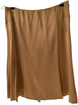 Alberta Ferretti Camel Silk Skirt for Women Vintage