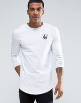 SikSilk Long Sleeve Muscle T-Shirt In White