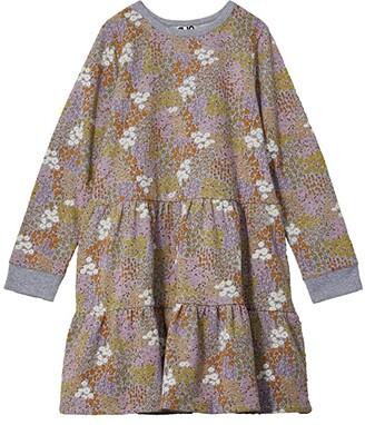 Cotton On Angie Long Sleeve Dress (Toddler/Little Kids/Big Kids) (Grey Marle/Floral Fields) Girl's Dress