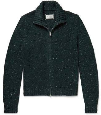Maison Margiela Donegal Wool-Blend Zip-Up Cardigan