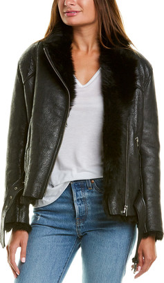IRO Mantaa Metallic Shearling Jacket