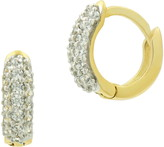 Freida Rothman Mini Pave Huggie Hoop Earrings
