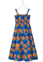 MSGM floral print dress - kids - Cotton/Spandex/Elastane - 4 yrs