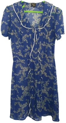 Topshop Tophop Blue Silk Dress for Women