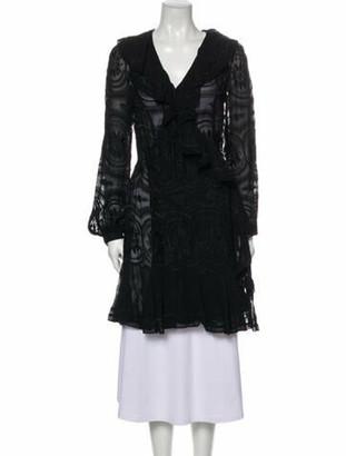 Needle & Thread Patterned Mini Dress Black