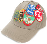 DSQUARED2 patch embroidered baseball cap - men - Cotton - One Size