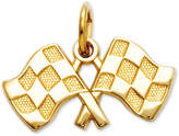 Macy's 14k Gold Charm, Racing Flags Charm