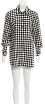 Kimberly Ovitz Checkered Print Mini Dress