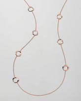 Ippolita Rose Gold Wavy Circle Station Necklace