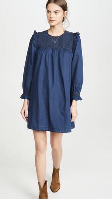 Madewell Smocked Ruffle Dress