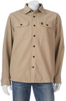 Coleman Men's Solid Flannel-Lined Canvas Button-Down Shirt