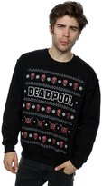 Marvel Men's Deadpool Logo Christmas Sweatshirt