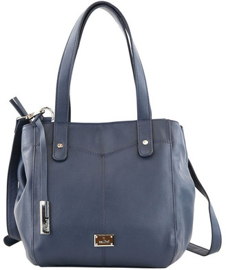 Cellini CLQ206 Fairview Double Handle Navy Satchel