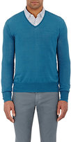 Boglioli MEN'S V-NECK SWEATER-BLUE SIZE L