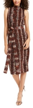 Rachel Roy Snake-Embossed Midi Dress