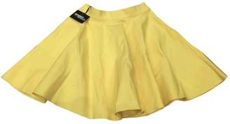 Jeremy Scott Yellow Cotton Skirts