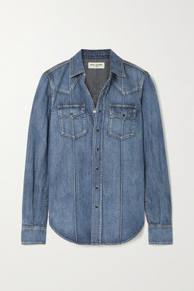 Saint Laurent Denim Shirt - Blue